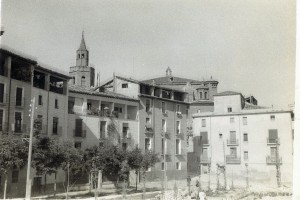 La plaza Aragón en 1957